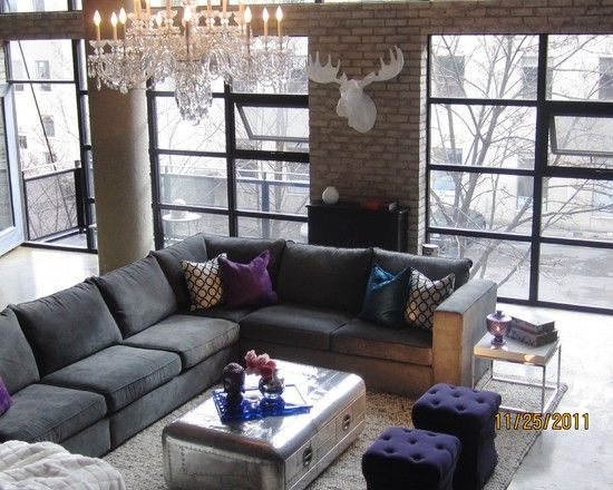 Love the couch and the colors in this room!