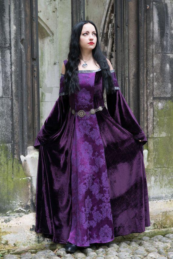 Lorelei Dress - *most colours available* Handmade Velvet Medieval ...