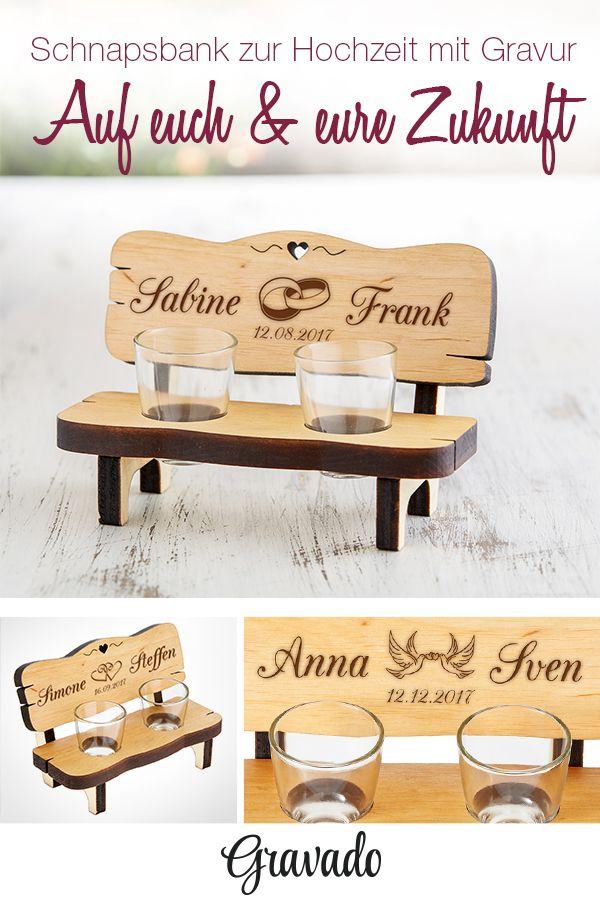 schnapsbank mit gravur zur hochzeit personalisiert pinterest lustige geschenkideen. Black Bedroom Furniture Sets. Home Design Ideas