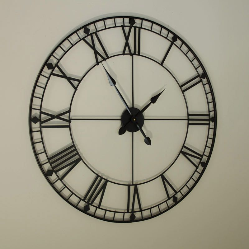 Black Iron Skeleton Wall Clock Part 20