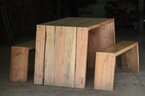 'Angled' Oregon Cafe Table & Bench Set Price starting from $1000.00
