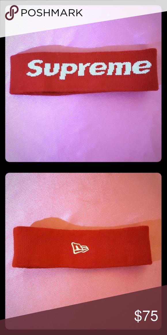 Supreme Reflective Logo Active Wear Headband Classic Logo Supreme Accessories New Era