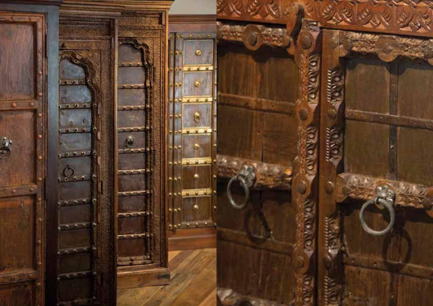 Indische Schränke aus antiken Bauteilen gefertigt. Jetzt online ...