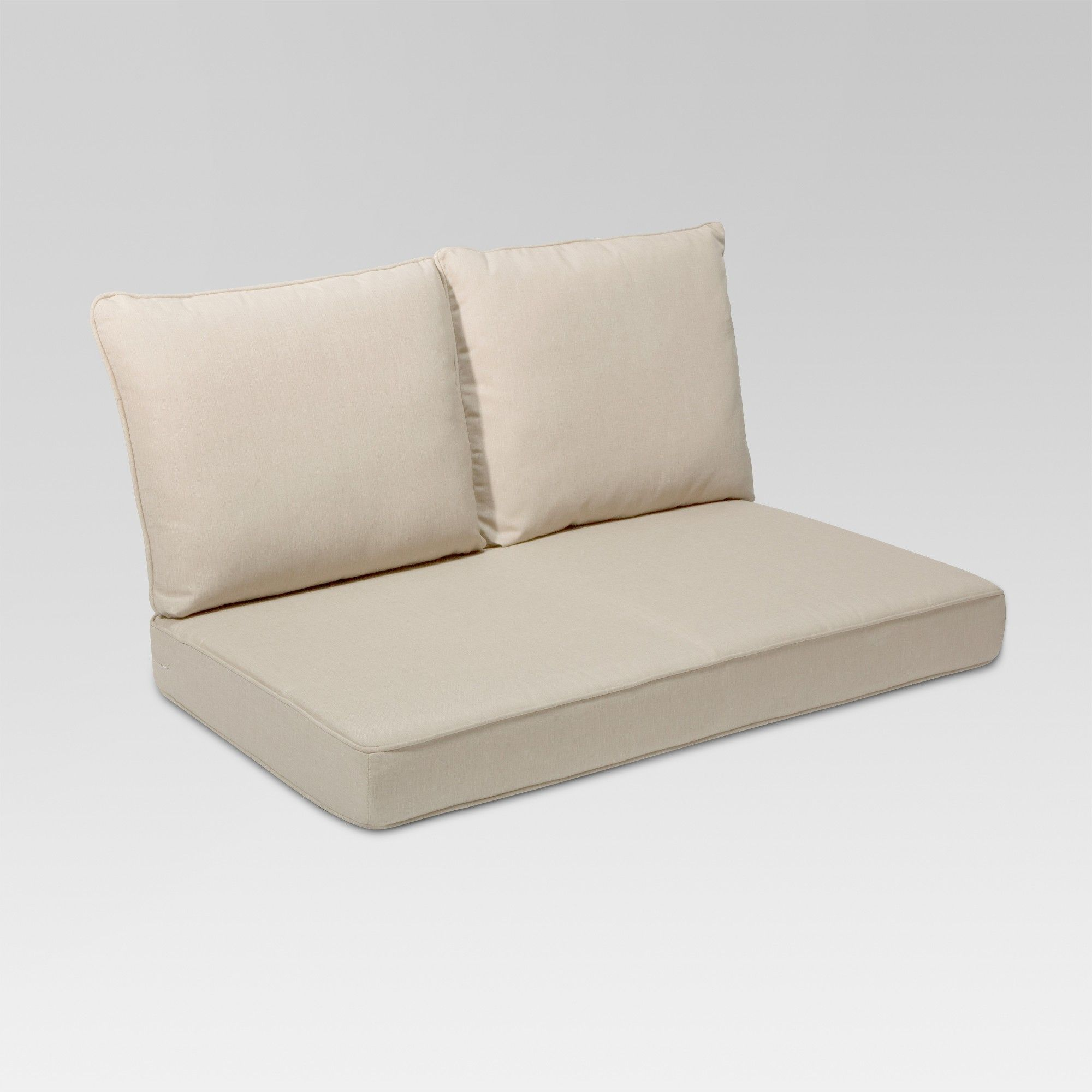 Awesome Rolston 3Pc Outdoor Replacement Loveseat Cushion Set Beige Creativecarmelina Interior Chair Design Creativecarmelinacom