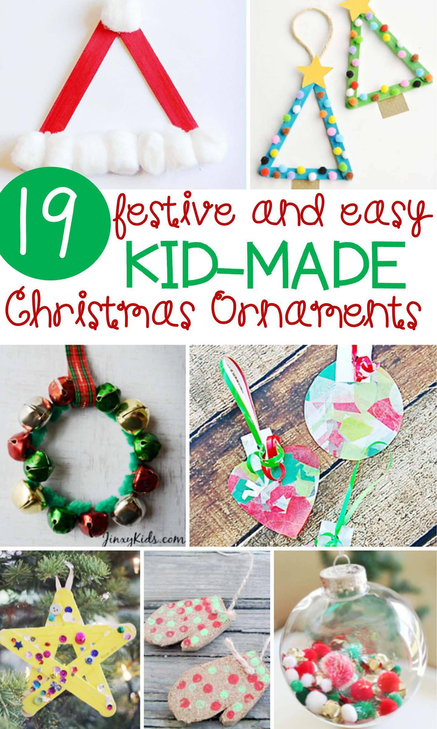 Festive And Simple Kids Christmas Ornaments Kids Christmas Ornaments Easy Kids Christmas Easy Christmas Ornaments