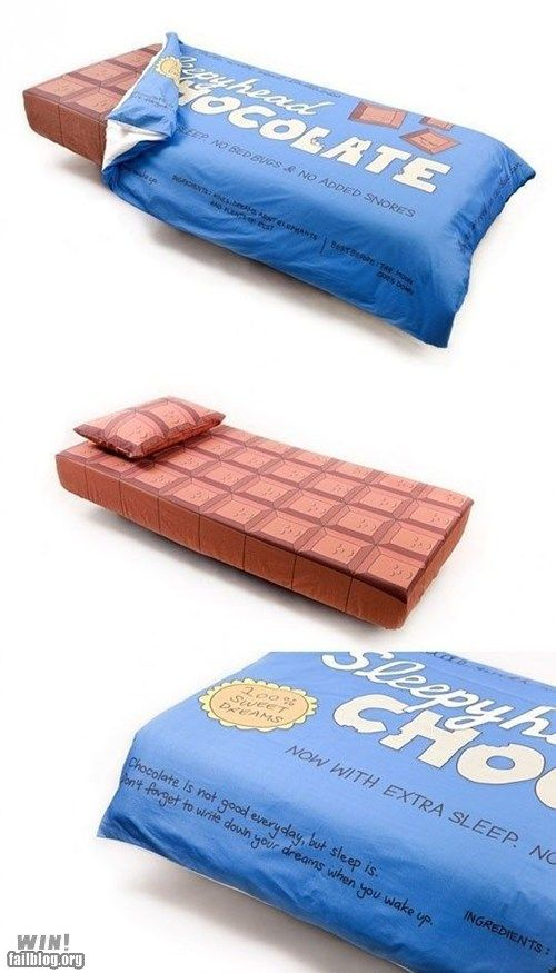 Chocolate bed
