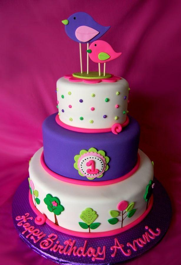 1st birthday bird cake children 39 s birthday cakes cake for Decorating 1st birthday cake