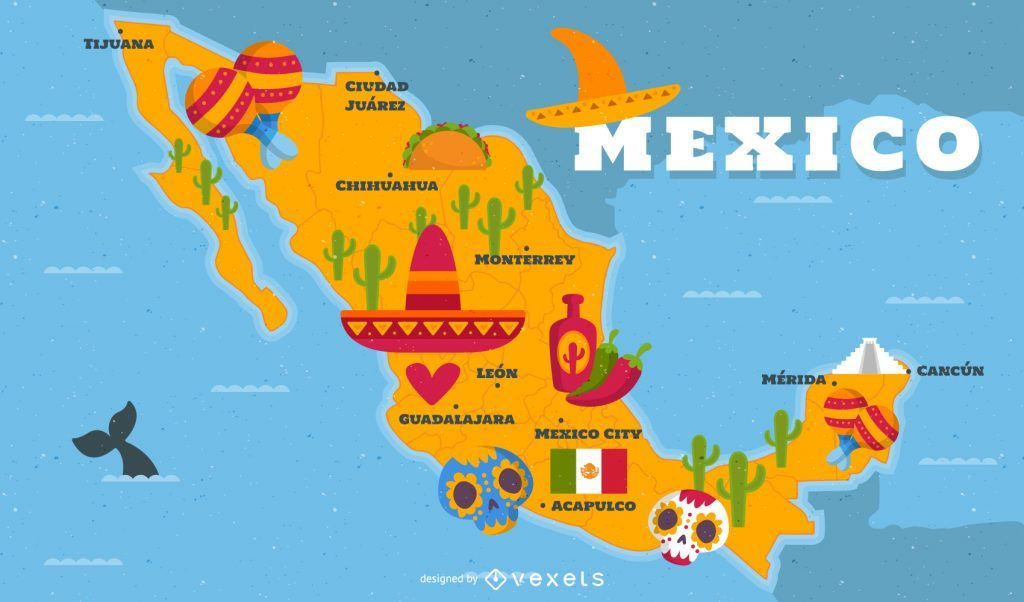 Mapa Do Mexico Conheca Todas As Regioes Do Mexico Mapa Do