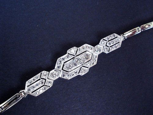 jewelry sale platinum bracelet for filigree v link l diamond bracelets id aquamarine deco art