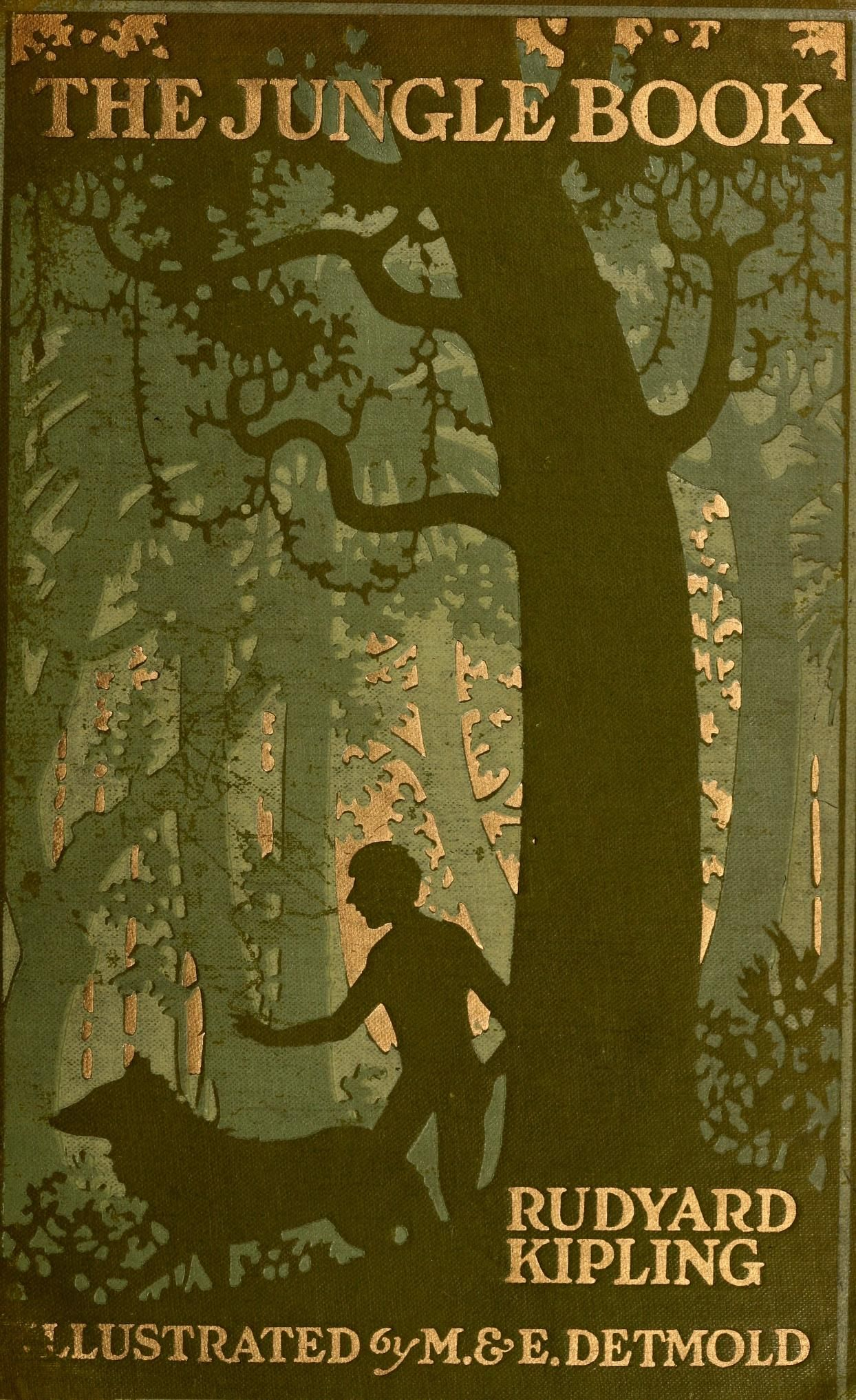 Rudyard Kipling, The Jungle Book, New York: The Century Co., 1913. Illustrations by Maurice and Edward Detmold.