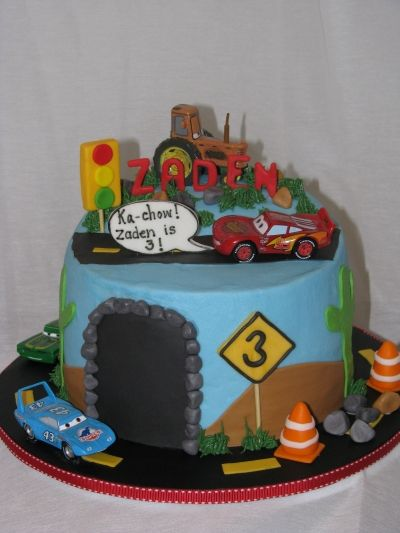 Lightening McQueen Birthday Cake fun for the kids Pinterest