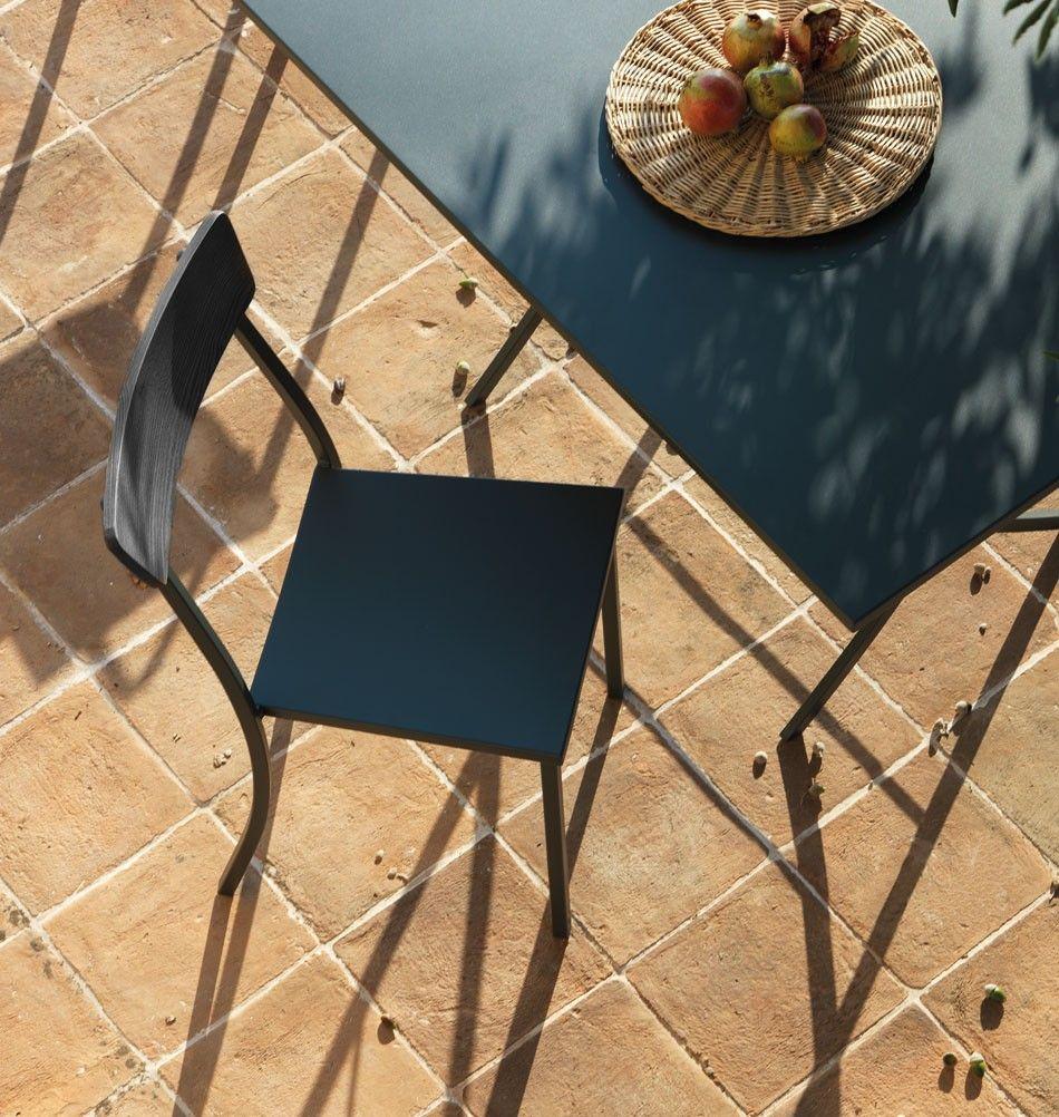 Gartenstuhl Mogi Mit Armlehnen Holz Metall Gartenmöbel