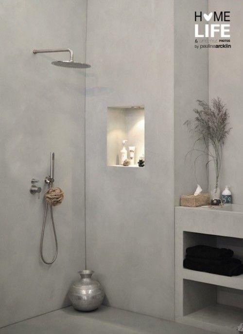 Inham in badkamer muur - badkamer | Pinterest - Muur, Badkamer en ...
