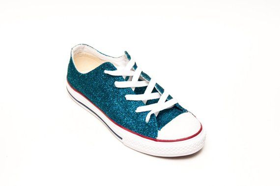 Tropical Blue Glitter Converse® All Star Low Top Sneakers