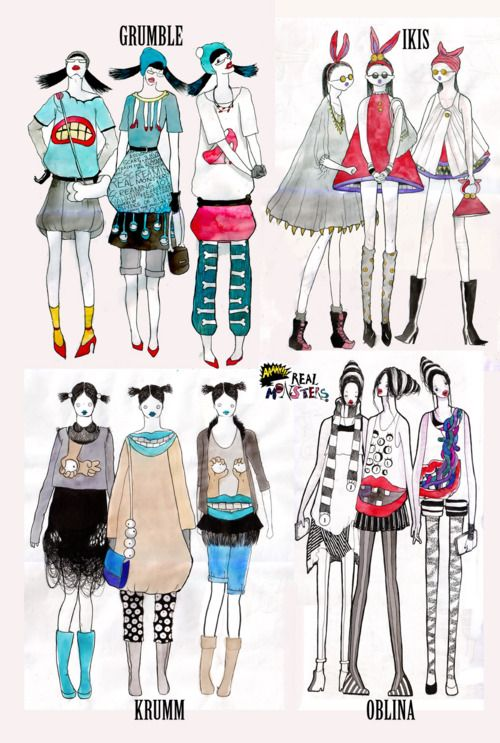 Outfits Based On Ahh Real Monsters Love It Real Monsters Monster Characters Street Wear