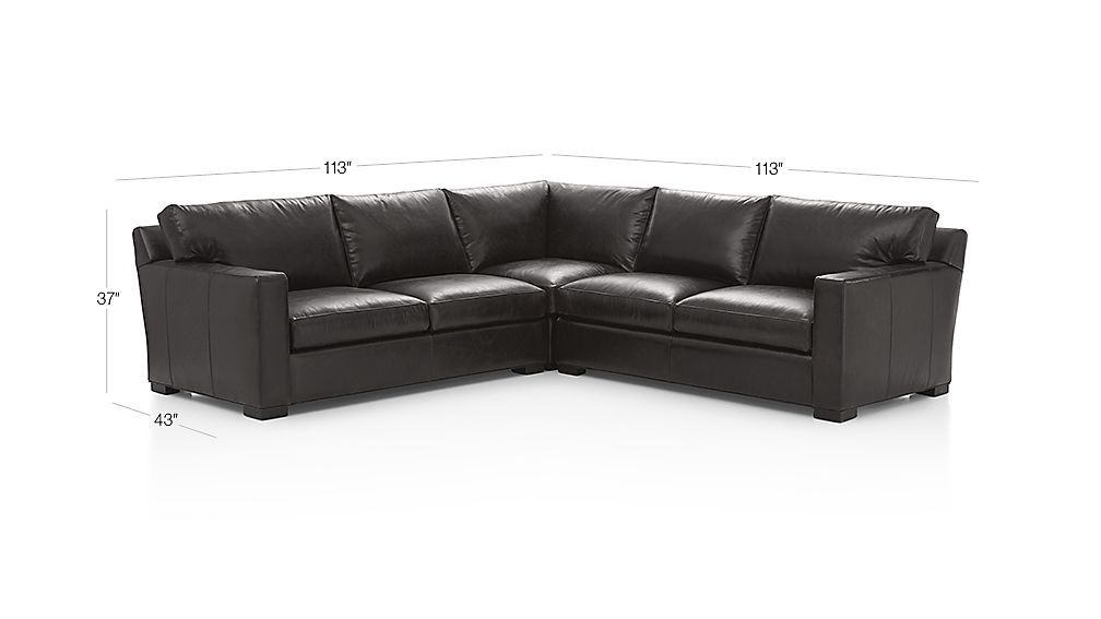 Axis Ii Brown 3 Piece Leather Sectional Sofa Crate And Barrel 3 Piece Sectional Sofa Leather Sectional Sofa Leather Sectional