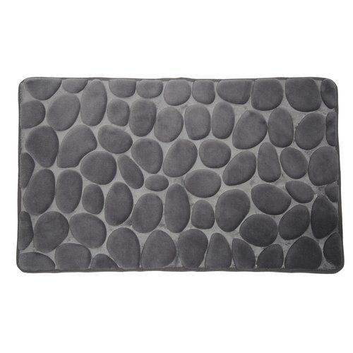 Belfry Bathroom Pebble Memory Foam Bath Mat Bath Mat Sets Grey