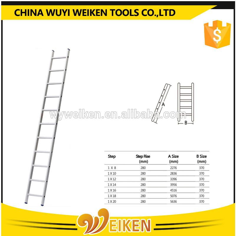 Zhejiang High Quality Aluminium Single Straight Ladder Aluminium Ladder Ladder Zhejiang