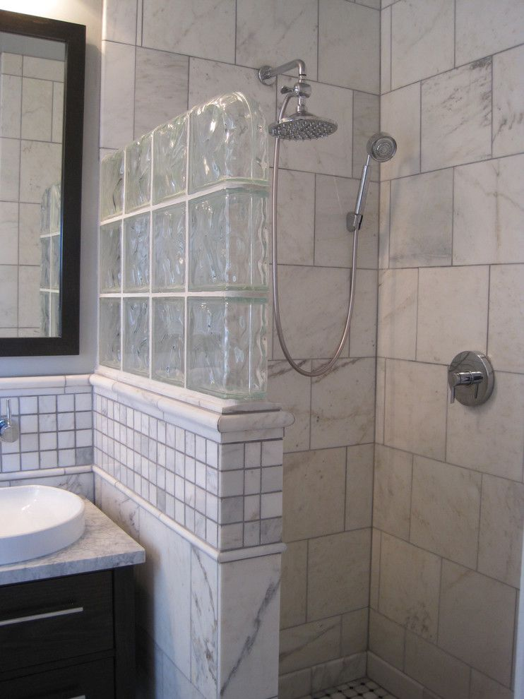 Wall Glass Block Bathroom Fleut Com For The Home