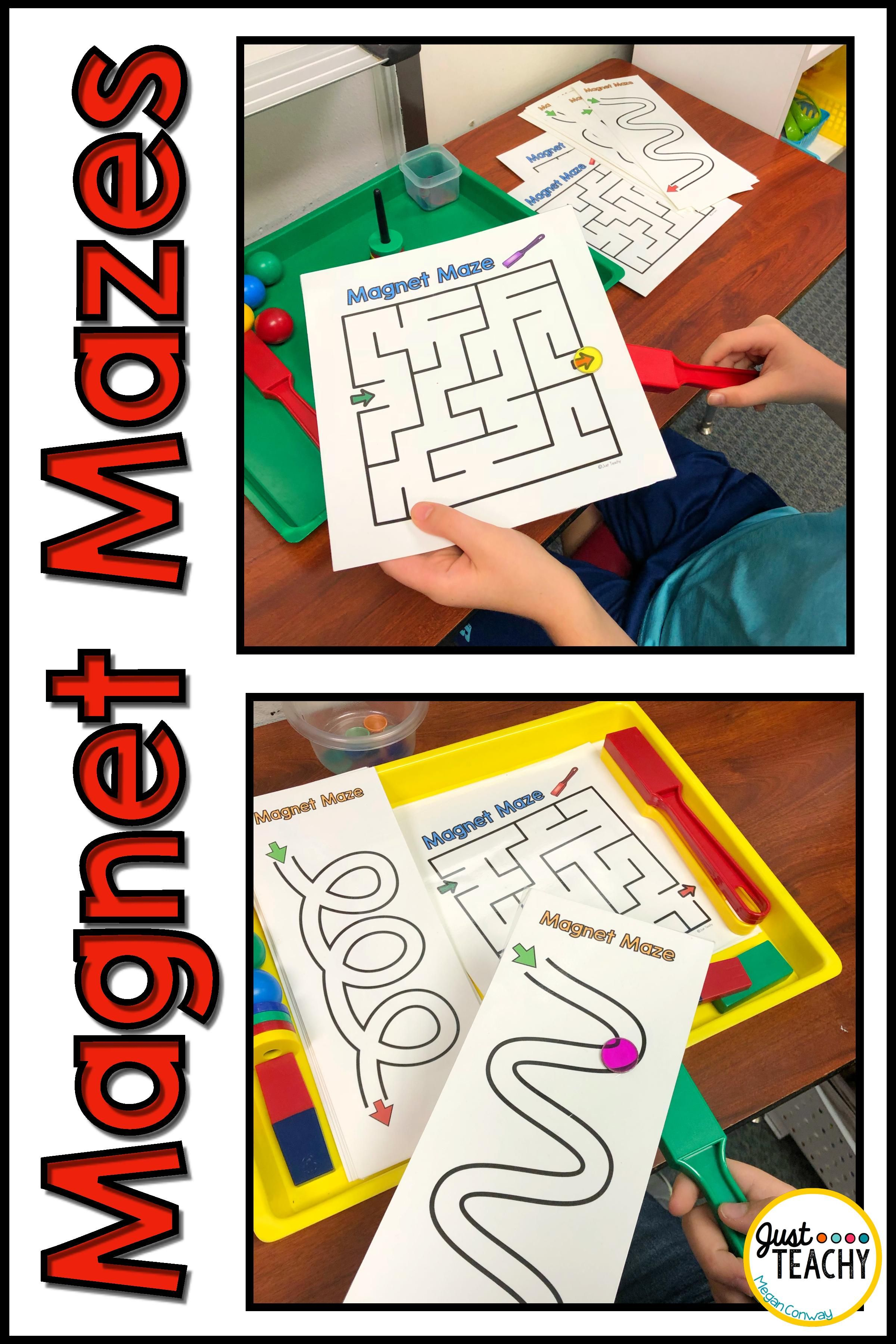 Magnet Mazes And Pathways In