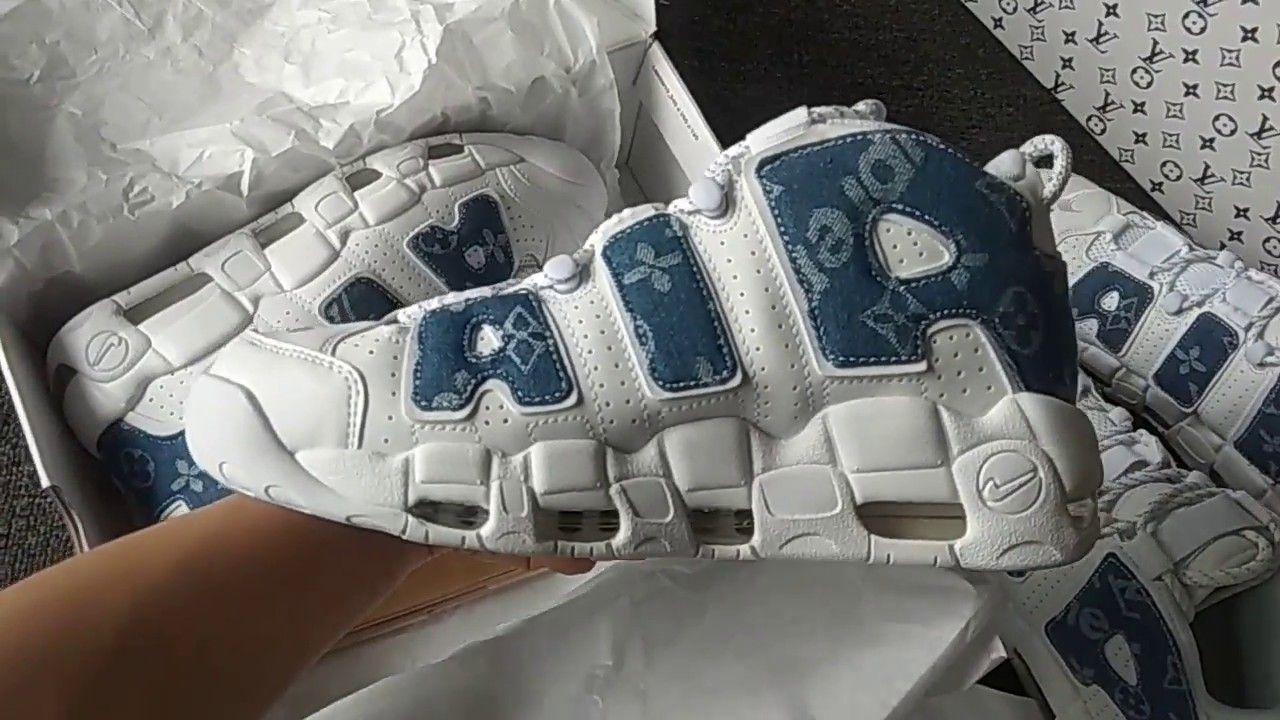 Repellente prenotazione esterno  Unbox Custom Louis Vuitton x Supreme x Nike air more Uptempo denim blue |  Nike, Nike air, Louis vuitton