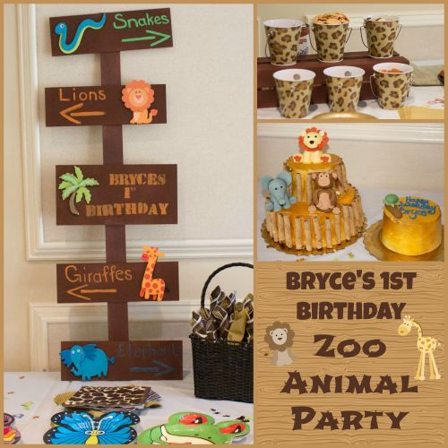 Sweet at One Baby Zoo Animals Birthday Party Ideas Zoo animal
