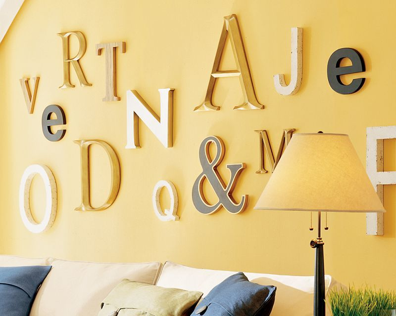 10 originales ideas para decorar las paredes de casa Decorar - paredes con letras