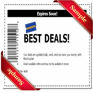 graphic relating to Blockbuster Printable Coupon named Blockbuster Printable Coupon December 2016 Printable True