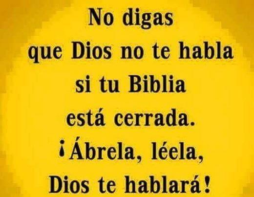 No digas que Dios no te habla si tu Biblia está cerrada. ¡Ábrela, léela, Dios te hablará!
