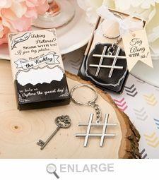 Hashtag keychains for the social media savvy couple!