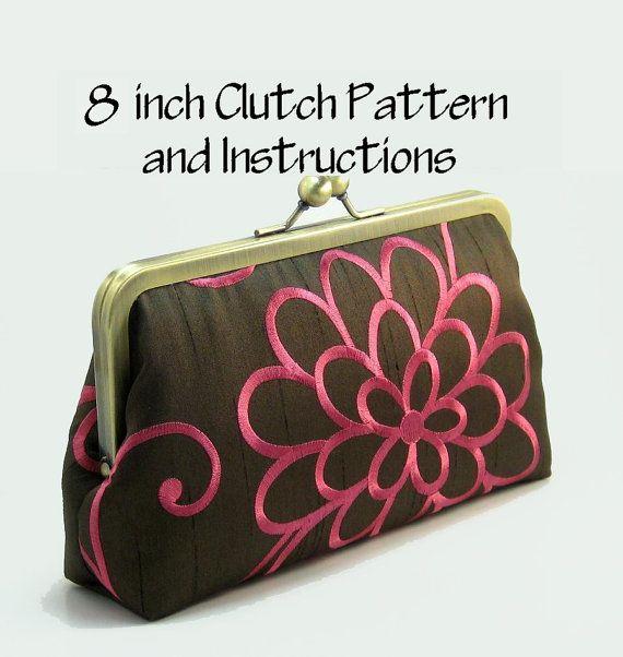 Pattern Instructions 8 Clutch Purse Etsy Purse Patterns Purses Clutch Pattern