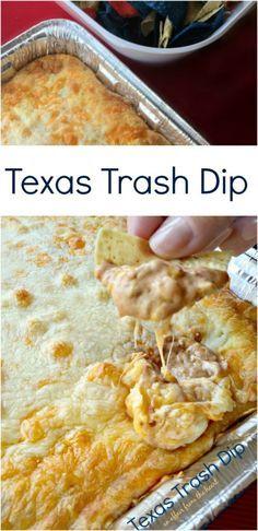 Texas Trash Dip (Warm Bean Dip) #dipsandappetizers