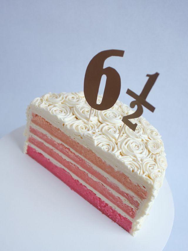 Fantastic Baked Half Birthday Cake Half Birthday Cakes Half Birthday Funny Birthday Cards Online Drosicarndamsfinfo
