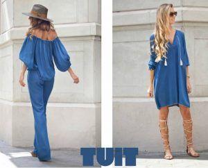 Jumpsuit y túnica blue de Tuit Fashion Home