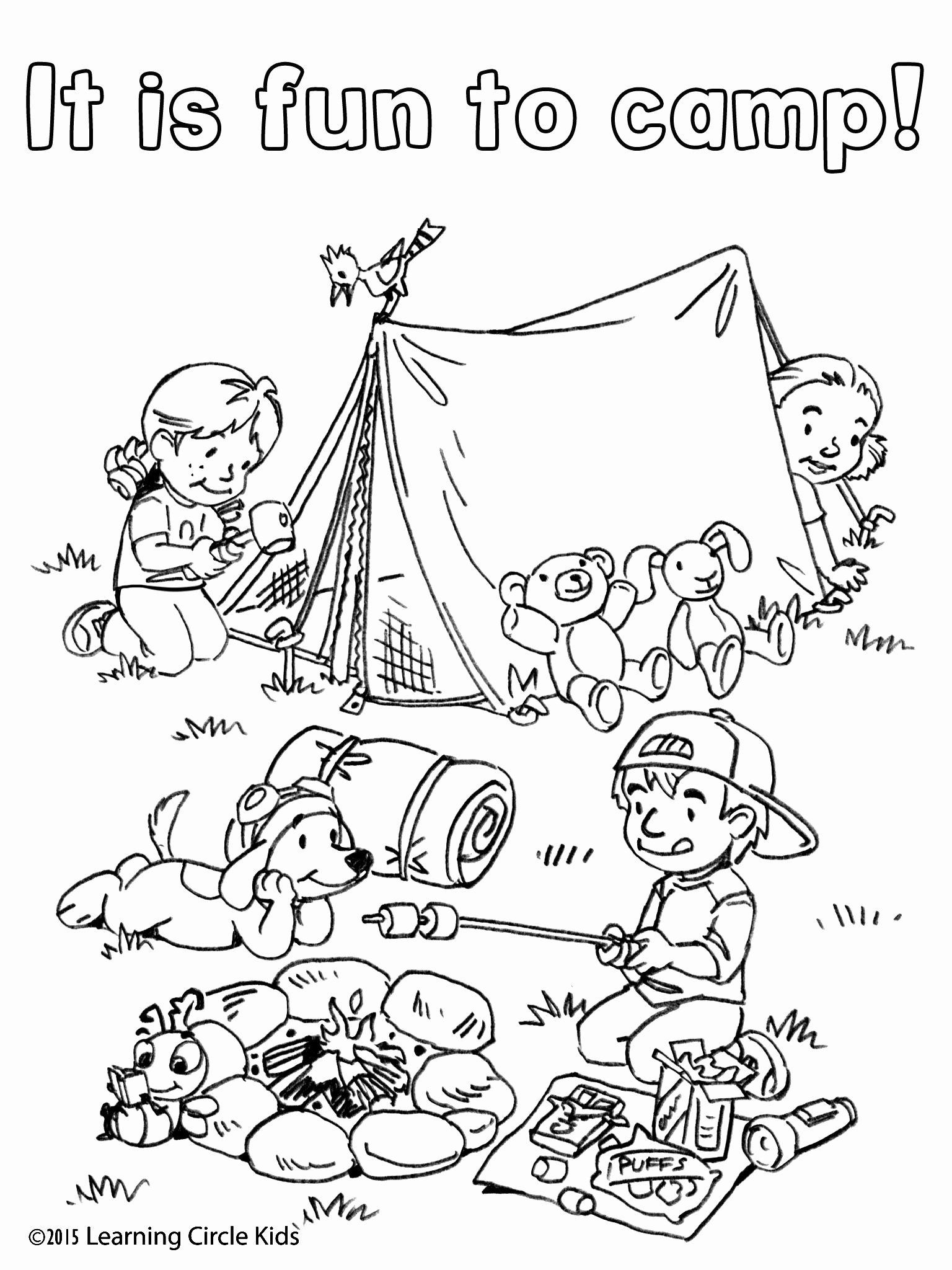 Coloring Pages Summer Fun Inspirational Free Coloring And Reading Page Summer Fun Camping With In 2020 Camping Coloring Pages Camping Theme Preschool Camping Preschool