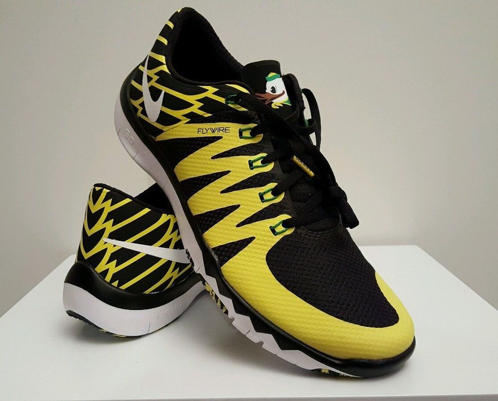 ffe40a9fe1f2 Oregon Ducks Nike Free Trainer 5.0 V6 AMP 723939 008 Fly Rare Size 10.5   Nike  AthleticSneakers