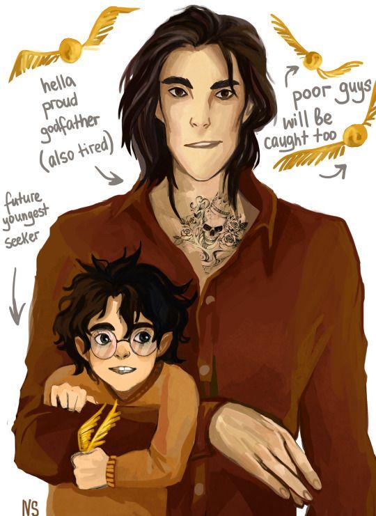 Sirius and Harry by nastjastark