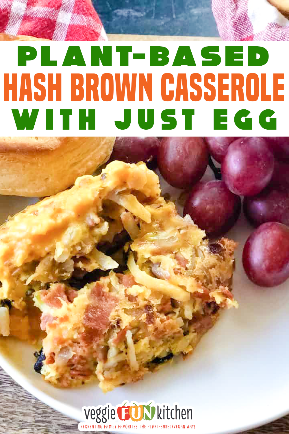 Plant Based Hash Brown Casserole With Just Egg Veggie Fun Kitchen Recipe In 2020 Vegan Comfort Food Plant Based Recipes Breakfast Vegan Recipes Easy