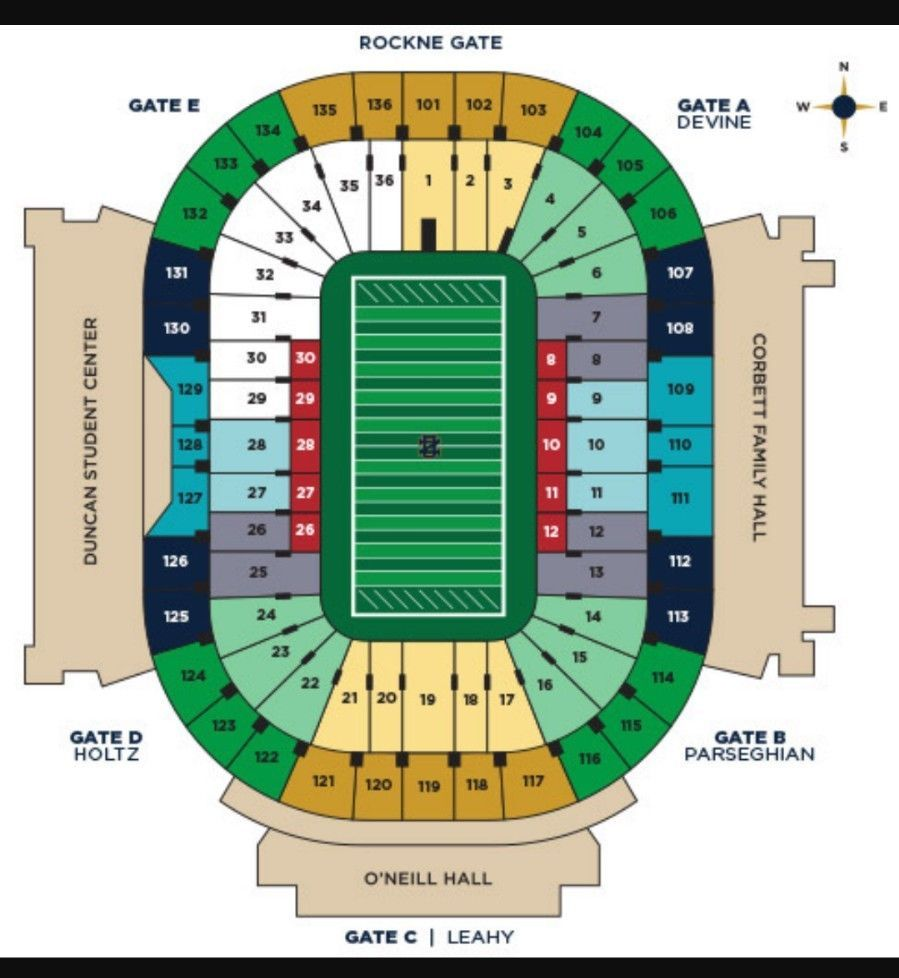 2 notre dame tickets vs wake forest on saturday november 4