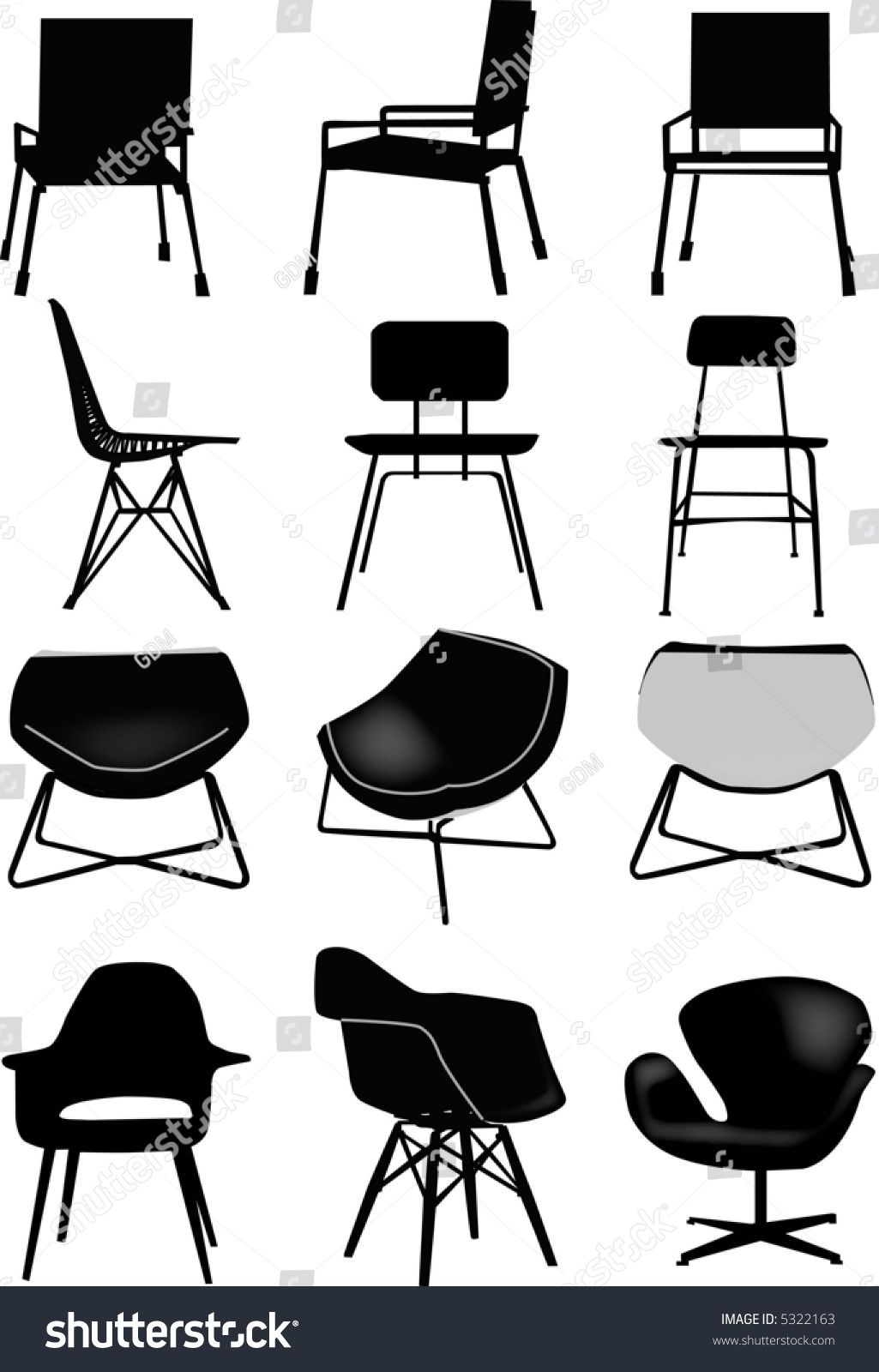 Vector Collection Of Design Chair Ad Affiliate Collection Vector Chair Design In 2020 Chair Design Design Graphic Design Inspiration