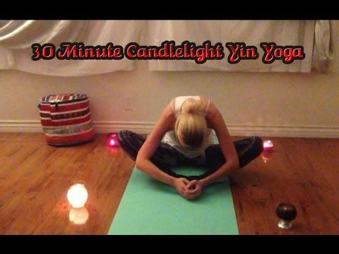 30 minute candlelight yin  meditation yoga class for
