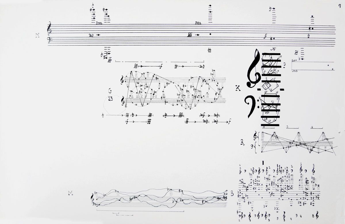 B Sides Garadinervi John Cage From Concert For Piano In 2021 John Cage Orchestra Music Score