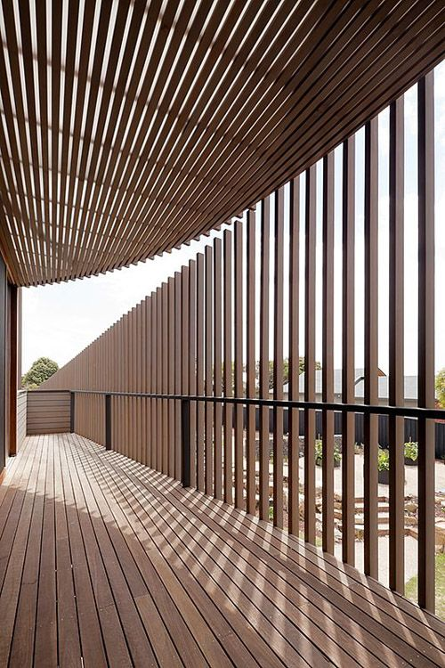Holz architektur innenraum  Sichtschutz aus Holz   .a r c h i t e c t u r e   Pinterest ...