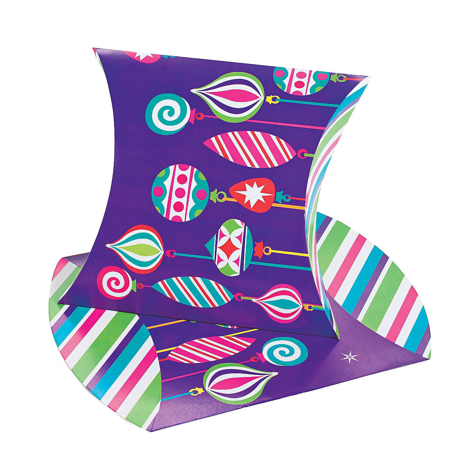 Large Bright Christmas Pillow Boxes Discontinued