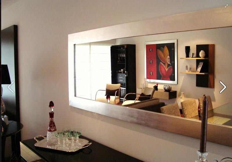 Espejo con marco en pan de plata p gina de fb living ya for Espejo horizontal salon