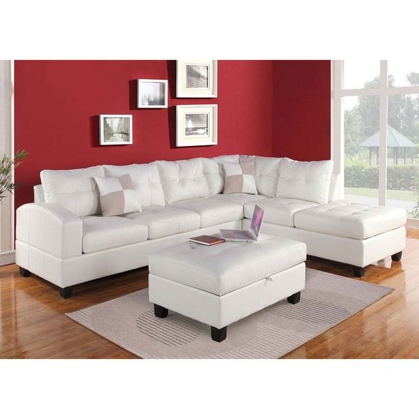 Brovary Sectional Sofa Upholstered in Bonded Leather | Living Room ...