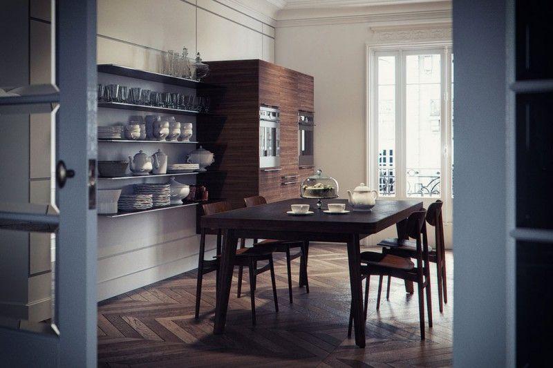 Lélégance Du Baron Haussmann Haussmannien Contemporain Et Le Baron - La salle a manger boulogne pour idees de deco de cuisine