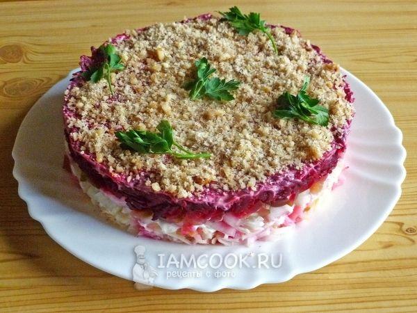 салат слоеный со свеклой рецепты