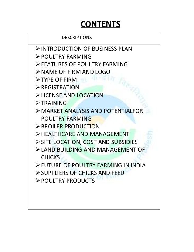 Free sample of poultry farm business plan business plan of a cell phone repair shop