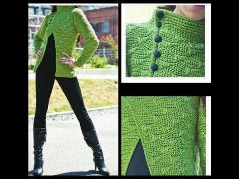 huge discount e060c 8329d crochet tutorial cardigan/chaqueta de primavera - YouTube ...